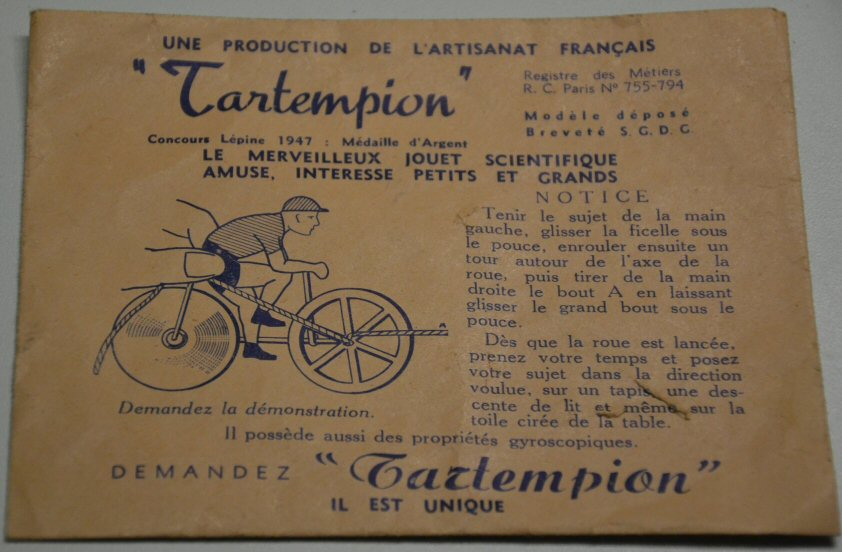 Cycliste miniature Tartempion