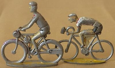 Cycliste en réduction