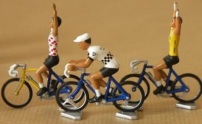 Pelotons de coureurs miniatures