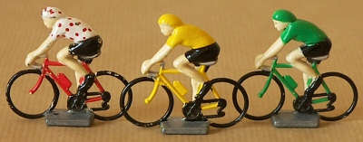 Cyclistes du Tour de France en miniature