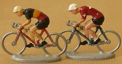 Cyclistes miniatures du Tour de France