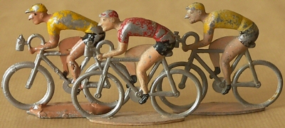 cycliste modèle réduit